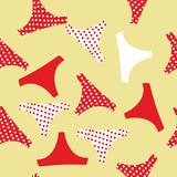 Seamless pattern panties woman