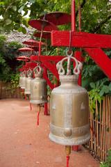 Bells in Wat Phan Tao, Chiang Mai, Thailand