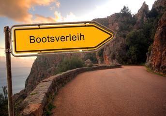 Strassenschild 36 - Bootsverleih