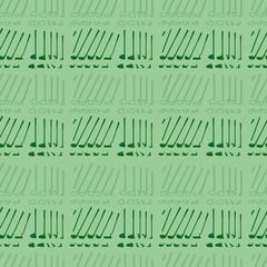 Golf sport clubs texture vector.