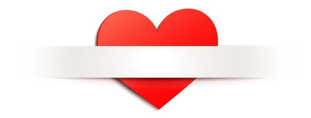 Herz mit Banner