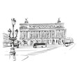 Opera Garnier, Paris, France. Vector illustration - 82067004
