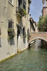 Venetian brick bridge, Italy