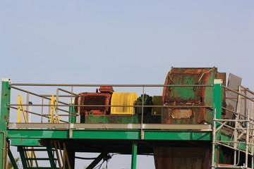 maquina que transporta sal