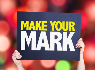 Make Your Mark card with bokeh background