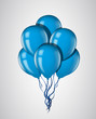 Blue balloons bunch with ribbon isolated. Vector illustration - 82068294