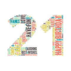 Word Cloud - Happy Birthday Celebration - 21