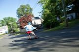 Longboarder Speeding Downhill