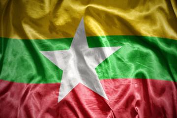 shining myanmar flag