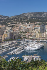 View from Monaco Ville across Port Hercule towards Monte Carlo