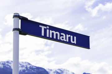 Timaru sign in New Zealand
