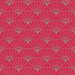 Plain fan pattern. Based on Traditional Japanese Embroidery.