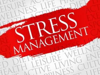 Stress Management word cloud, health concept