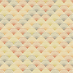 Endless fan pattern. Based on Traditional Japanese Embroidery.