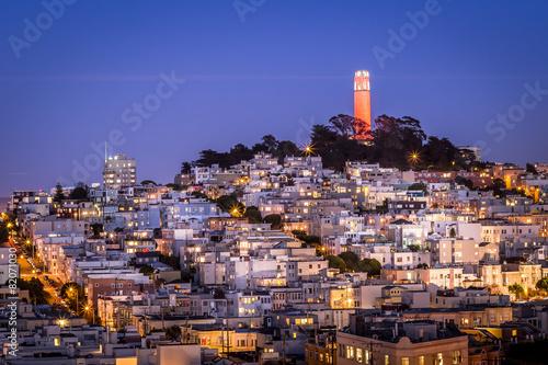 Tuinposter San Francisco San Francisco Coit Tower