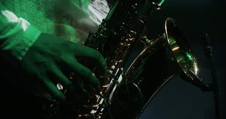 Man playing saxohone 2