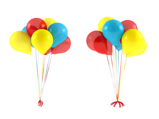 Multicolor balloons isolated.