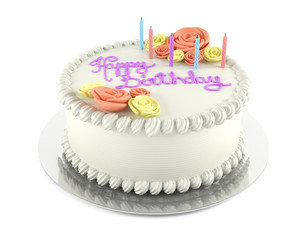 Birthday cake isolated