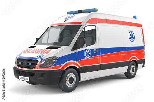 Modern Ambulance car - 82072636