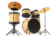 wooden drums isolated. Black drum kit. - 82072867