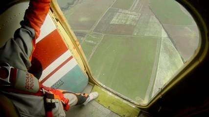 Parachute jump first person