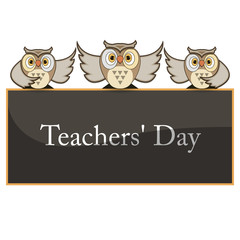 Vector illustration - happy teachers day