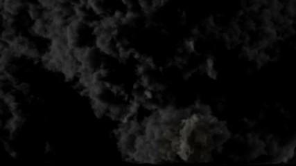Smoke explosion at camera