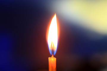 Flame of candle light