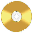 Realistic illustration of golden compact disc - 82074895