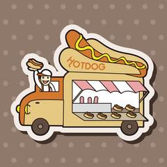 hot dog shop car theme elements