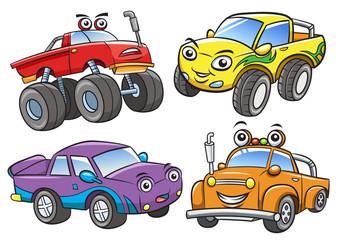 Cartoon the off road car