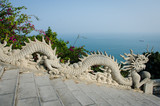 Sculpture of stone dragon at Linh Ung Pagoda in Da Nang, Vietnam - 82076063