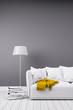 Modernes Zimmer in minimal Stil mit Sofa - 82077297