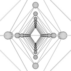 Octahedron DNA Molecule Structure Vector