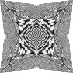 Black And White Pyramid Star Pattern Vector