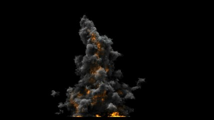 Explosion-- front view