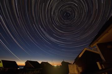 Sternspuren über Bork Havn