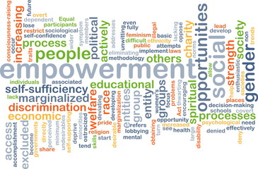 Empowerment wordcloud concept illustration