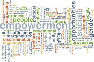 Empowerment wordcloud concept illustration