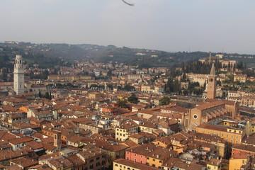 Verona city view from Torre dei Lamberti, Italy
