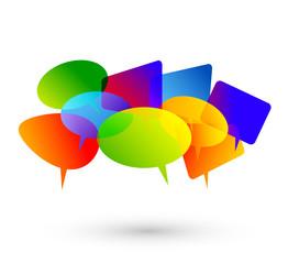 discussione, dialogo, community colori