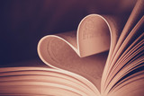 Heart book page - vintage effect style pictures