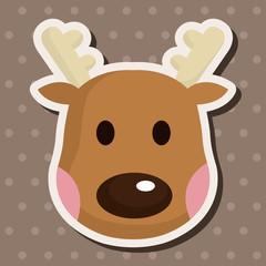 Reindeer theme elements