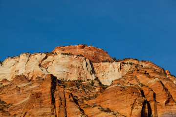 Zion Formation at Sunset