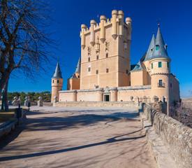 Sunny Image of Segovia's Alcazar in Spain