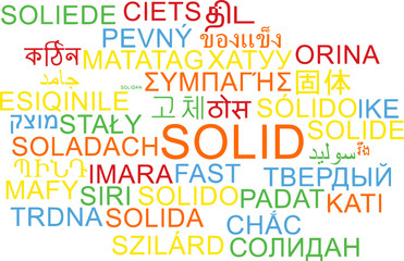 Solid multilanguage wordcloud background concept