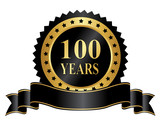 Elegant 100 years anniversary stamp with ribbon