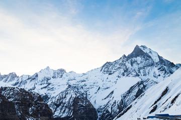Peak of Mount Machapuchare from Annapurna Base Camp, Nepal