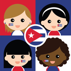 Group of happy Cuba's supporters