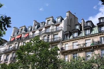Paris aparttment building balconies